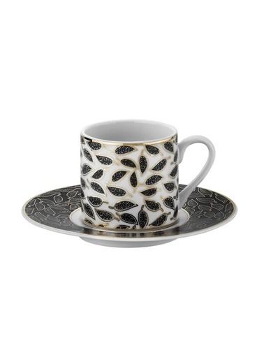 Kütahya Porselen Rüya 7749122 Desen Kahve Fincan Takımı Renkli